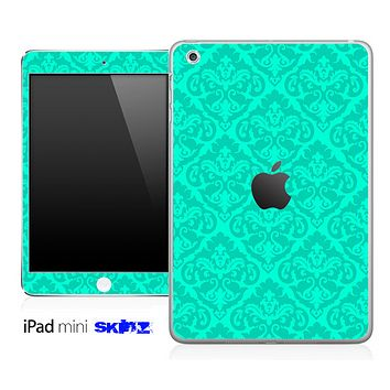 Trendy Green and Subtle Delicate Pattern Skin for the iPad Mini or Other iPad Versions