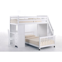 School House White Twin Lower Stair Loft Bed Ne Kids Twin Kids Furniture Childrens
