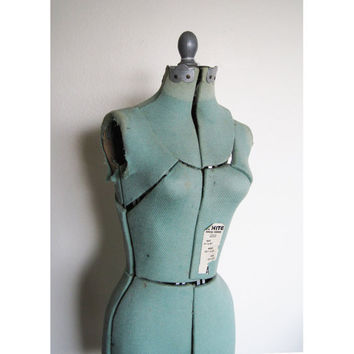 gorgeous vintage 1940's-50's dress form shabby home decor blue light blue