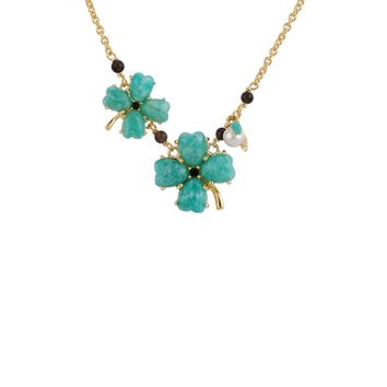 Les Néréides GOOD FORTUNE CLOVER LONG NECKLACE
