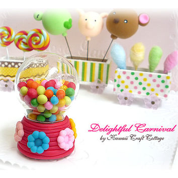 Gumball, Machine, Snow, Globe, Glass, Dome, Candy, Gift, Display, Candies, Barbie, Blythe, Dal, 1:6, Kawaii, Cute, Pullip, BJD, yosd, Decor