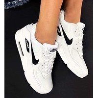Nike Air Max 90 Fashion Women Men Air Cushion Sport Sneakers Couple Running Shoes White