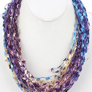 Multi Strand Soft Yarn Magnetic Closure Necklace HAN249007J8MLT