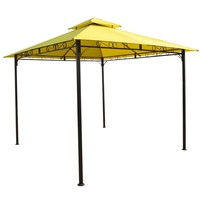 10-FT X 10-FT Yellow Canopy With Sturdy Outdoor Iron Frame