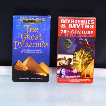 2 VHS Tapes Lot Mysteries & Myths Of The 20th Century Aliens / The Great Pyramid
