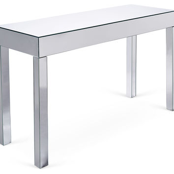 Sofa Mirrored  Table, Silver, Console Table