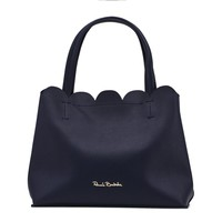 Renato Balestra Blue Leather Handbag