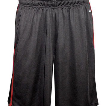 Badger 4121 Double-Time Pocketed Short - Carbon Red