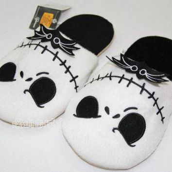 OHCOMICS The Nightmare Before Christmas Jack Skellington Plush Stuffed Slippers Warm Household Slipper Cotton Shoes Cosplay