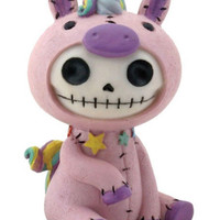 New Furrybones Large Unie Unicorn Mystical Skull Statue Baby Gift Toy Zombie
