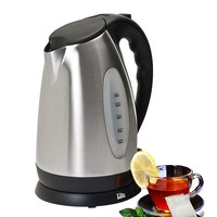 Elite Platinum 1.7L Stainless Steel Cordless Electric Kettle (Grey)