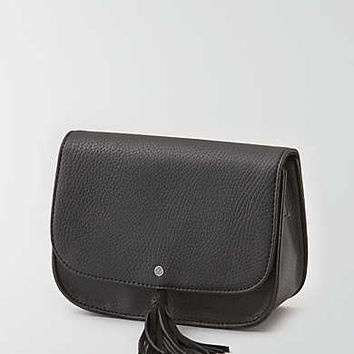 AEO Tassel Mini Crossbody Bag, Black