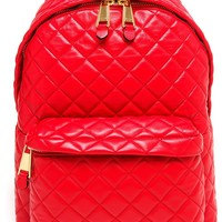 Moschino Quilted Leather Backpack - Browns - Farfetch.com