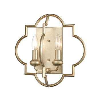 Chandette 2-Light Sconce in Aged Silver