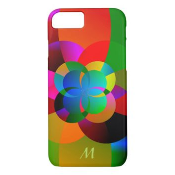 Abstract Cool Cute Fractal Neon Psychedelic iPhone 7 Case