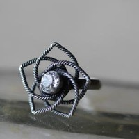 be my star flower ring in pewter - $9.99 : ShopRuche.com, Vintage Inspired Clothing, Affordable Clothes, Eco friendly Fashion