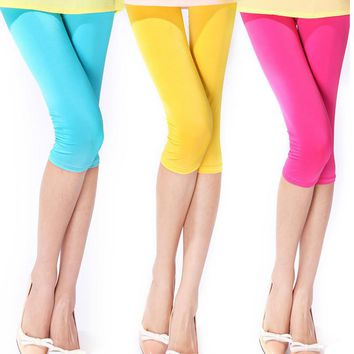 Womens Stylish Cute Over Knee Casual Leggings