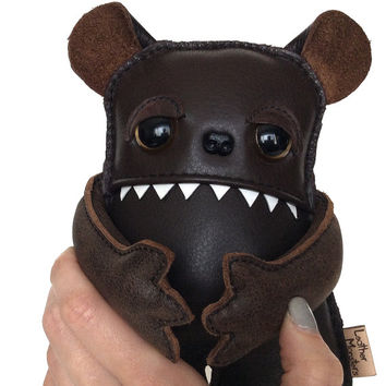 Love Me Bear - I adore him you shouldn't even get him he's terrible:) Plush Teddy Toy, Doll, Monster, kids pet  by Leather Monsters for Etsy