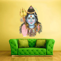 Full Color Wall Decal Mural Sticker Art Namaste Indian Shiva Om Lotos Elephant Lord Hindu Success Buddha India Like Paintings (col160)
