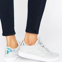 Reebok Irridescent Club C Sneakers In Gray at asos.com