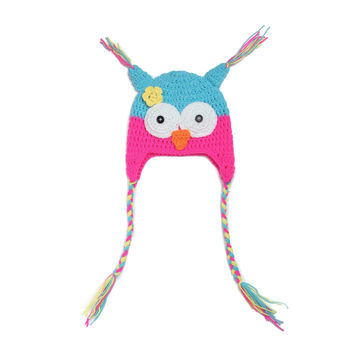 Baby Cartoons Style Handcrafts Children Knit Owl Hats [4919365572]