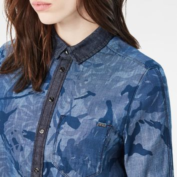 Arc Boyfriend Cropped Shirt | Rinsed/Sartho Blue Ao | G-Star RAW®