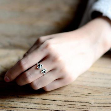 Lucky Cat / Dog Paw Print Ring