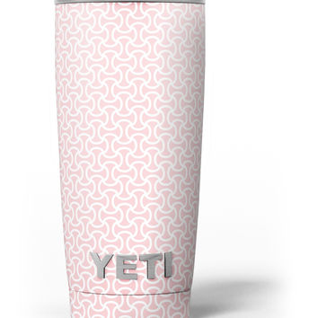 The Pink and White Axed Pattern Yeti Rambler Skin Kit