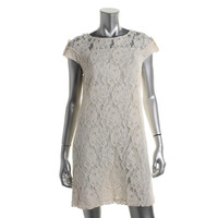 Cynthia Steffe Womens Lace Cap Sleeves Casual Dress