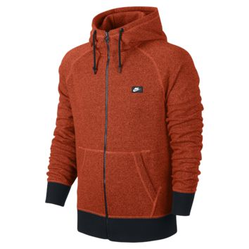 Nike AW77 French Terry Shoebox Full-Zip Men's Hoodie Size Small (Orange)