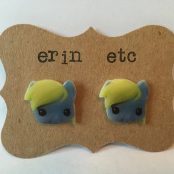 Handmade Plastic Fandom Earrings - My Little Pony - Derpy
