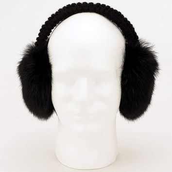 Genuine Rabbit Fur Earmuffs