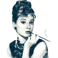 My Hepburn Art Print by Thubakabra