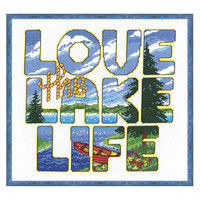 Love the Lake Life Counted Cross Stitch Kit- Needlework Projects, Tools & Accessories
