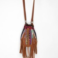 Ecote Beaded Suede Bucket Bag