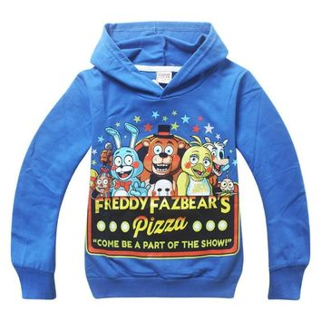 Fashion Baby Kid Long Sleeve  At Freddy T-shirts Hoodies Shirt Tops Clothes Girls Blouse T-Shirt