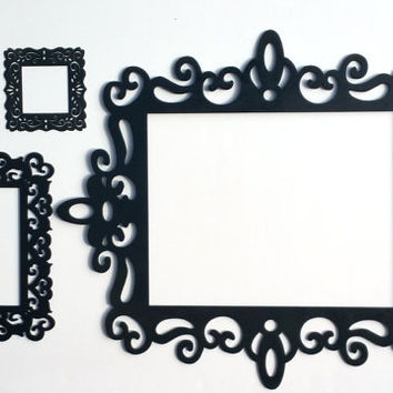 Black Ornate Laser Cut Frames - Gallery Wall Frames