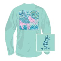Free To Be Wild Long Sleeve Tee Shirt in Celadon by MG Palmer