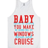 Down and cruise-Unisex White Tank