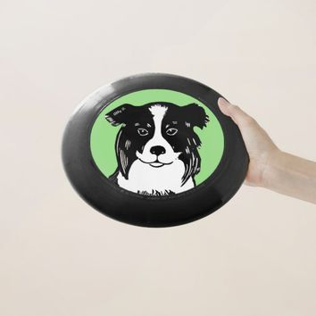 Border Collie Art Wham-O Frisbee