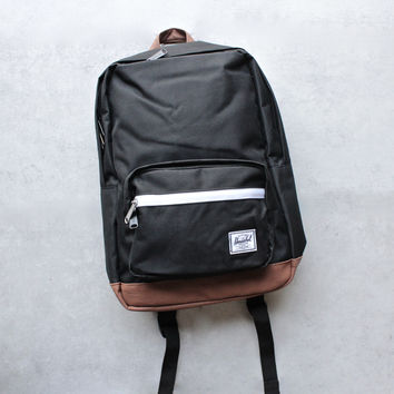 herschel supply co. - pop quiz backpack | mid volume - black/tan