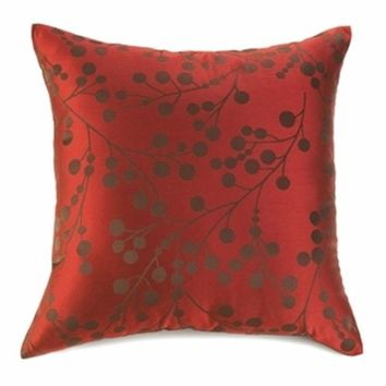 "Red Cherry Blossom 18"" Sofa Back Throw Pillows Cushions Home Decor Set of 2"