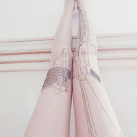 Harajuku Tattoo gun tights from MILK CLUB