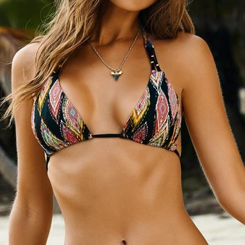 PilyQ 2015 Patara Diamond Braided Triangle Bikini