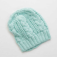 Aerie Cable Sweater Beanie , Ocean Aqua