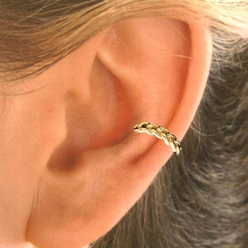 Ear Cuff - Braid Design Sterling Silver or Gold Vermeil