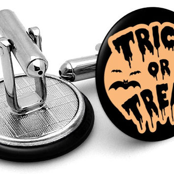 Trick or Treat Halloween Cufflinks