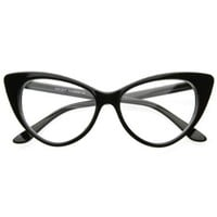 Amazon.com: Super Cat Eye Glasses Vintage Inspired Mod Fashion Clear Lens Eyewear: Shoes