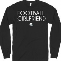 Football girlfriend long sleeve t-shirt-Unisex Black T-Shirt