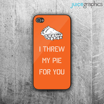 "Orange is the New Black phone case - ""I threw my pie for you"" design. Case For - iPhone 4/4S - iPhone 5/5S - iPhone 5C - iPhone 6"